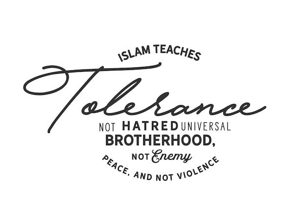 Islã ensina tolerância Vetor Premium