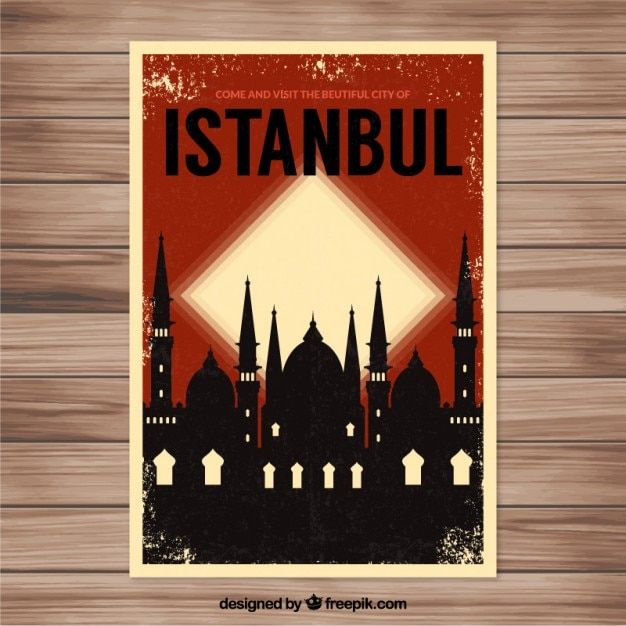 Istambul panfleto Vetor grátis