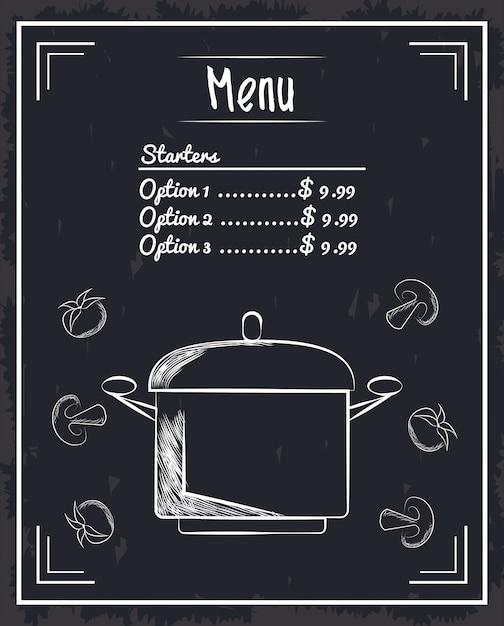 Itens do restaurante menu Vetor Premium