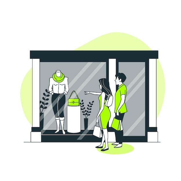 Janela de ilustração do conceito de compras Vetor grátis