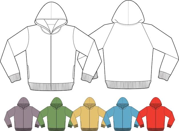 Jaqueta maquete Vetor Premium