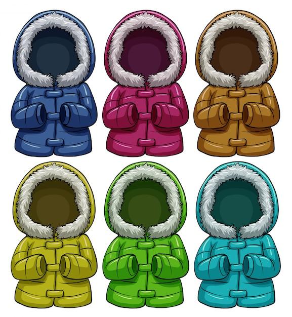 Jaquetas coloridas Vetor grátis