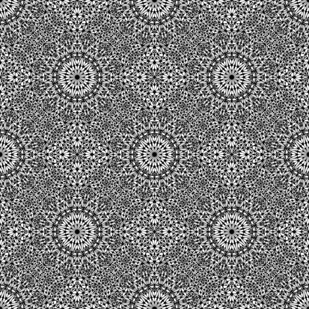 Jardim abstrato sem costura mandala mosaico arte de fundo Vetor Premium