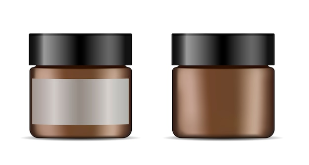 Jarra de creme facial. vetorial, ilustração, de, cosmético Vetor Premium