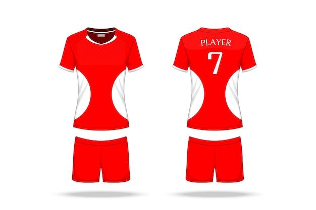 Jersey de voleibol de especificação isolado no fundo branco Vetor Premium
