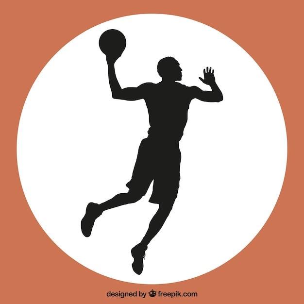 Jogador de basquete salto vetor Vetor grátis
