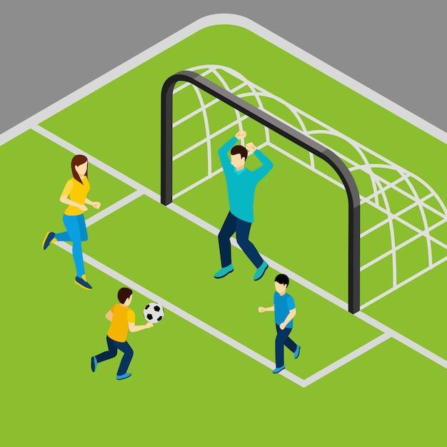 Jogando futebol ilustração Vetor grátis