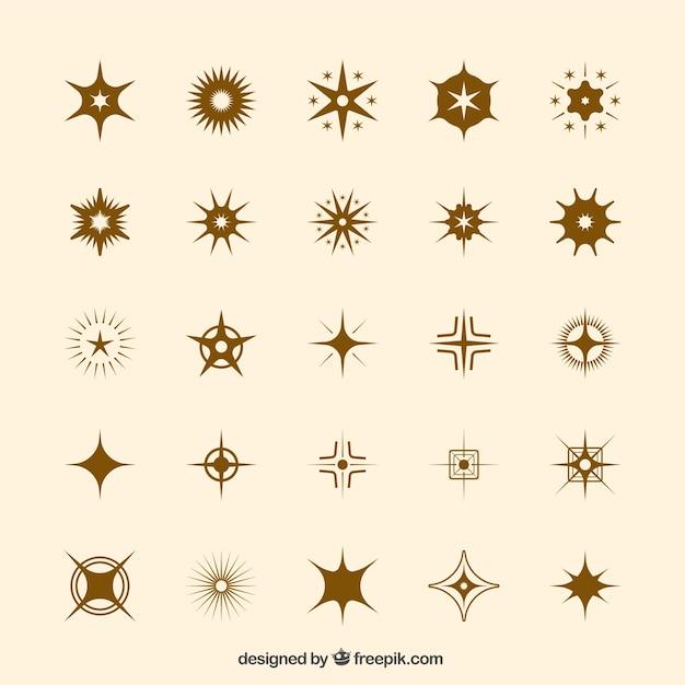 Jogo das estrelas icônicas Vetor grátis