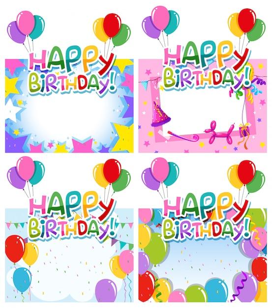 Jogo, de, aniversário, quadro Vetor grátis
