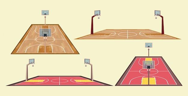 Jogo de basquete esporte jogo de itens Vetor grátis