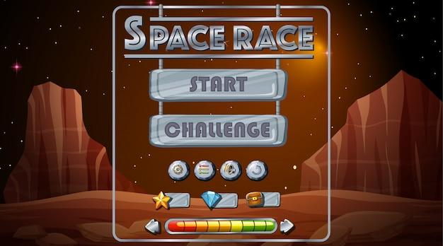 Jogo de corrida espacial Vetor grátis