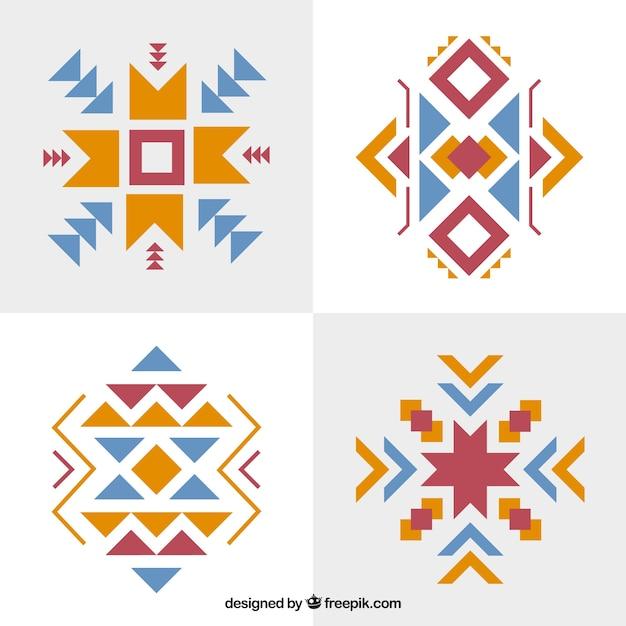 Jogo de formas abstratas étnicos Vetor grátis