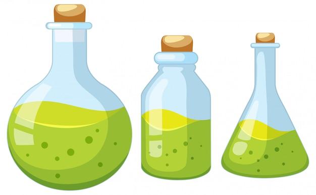 Jogo, de, laboratório, garrafa Vetor grátis