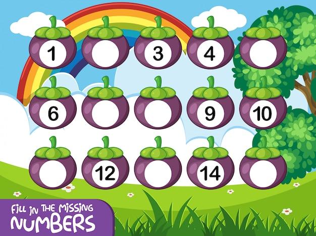 Jogo de números de matemática Vetor Premium