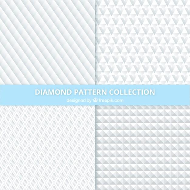 Jogo de testes padrões de diamante Vetor grátis