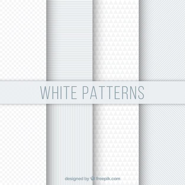 Jogo de testes padrões geométricos brancos Vetor grátis
