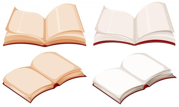 Jogo, de, vazio, livro Vetor Premium