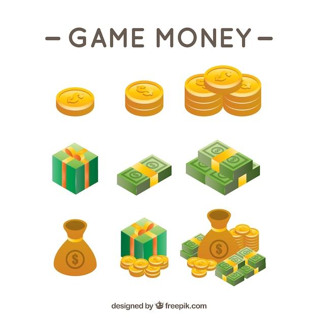 Jogo de vídeo dinheiro Vetor grátis