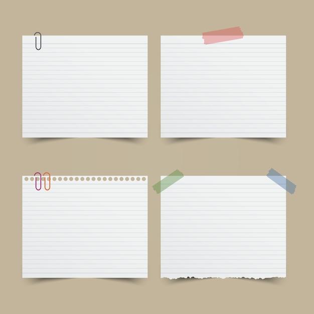 Jogo do papel de nota. ilustração do vetor. Vetor Premium