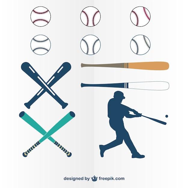Jogo do vetor de beisebol de gráficos Vetor grátis