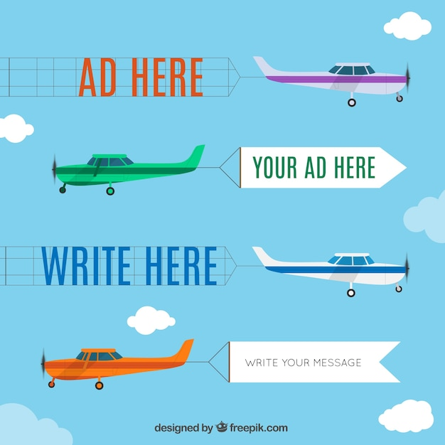 Jogo dos desenhos animados avião Vetor grátis