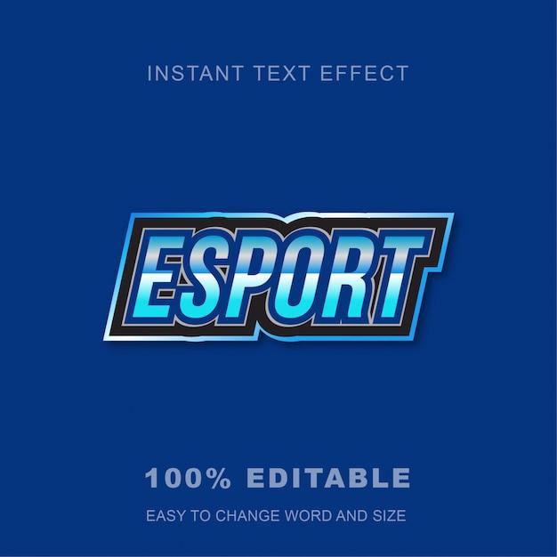 Jogo esport efeito de texto Vetor Premium