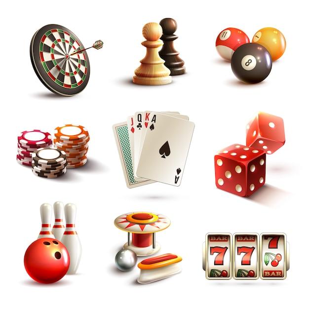 Jogo, ícones, jogo Vetor grátis