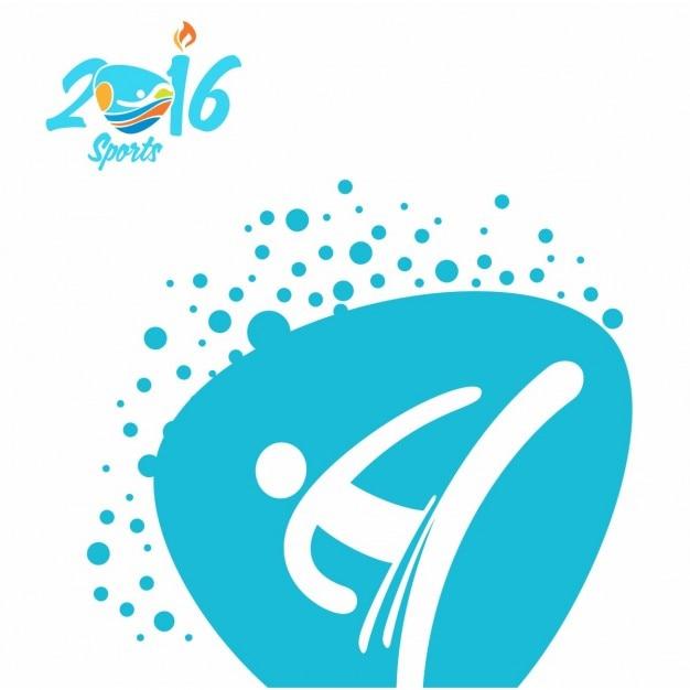 Jogos olímpicos taekwondo logo Vetor grátis