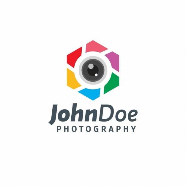 John doe fotógrafo logotipo Vetor grátis