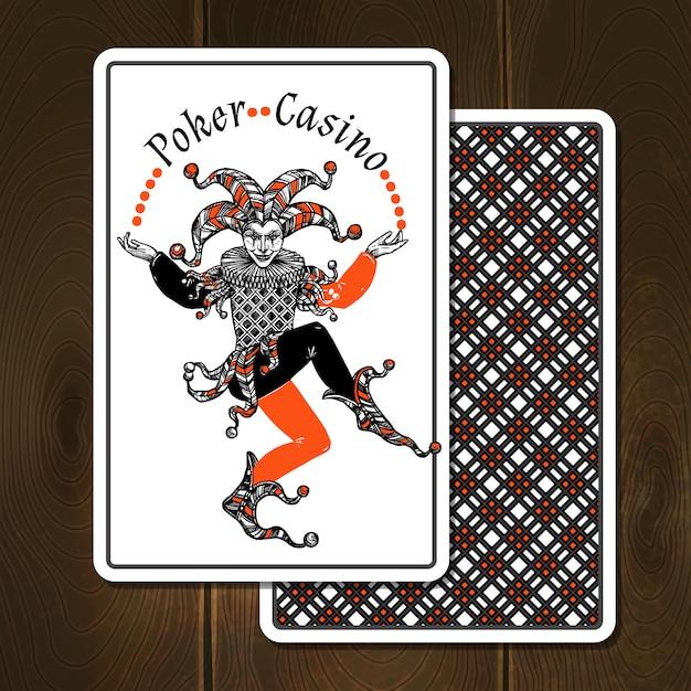 Joker cards realistic illustration Vetor grátis