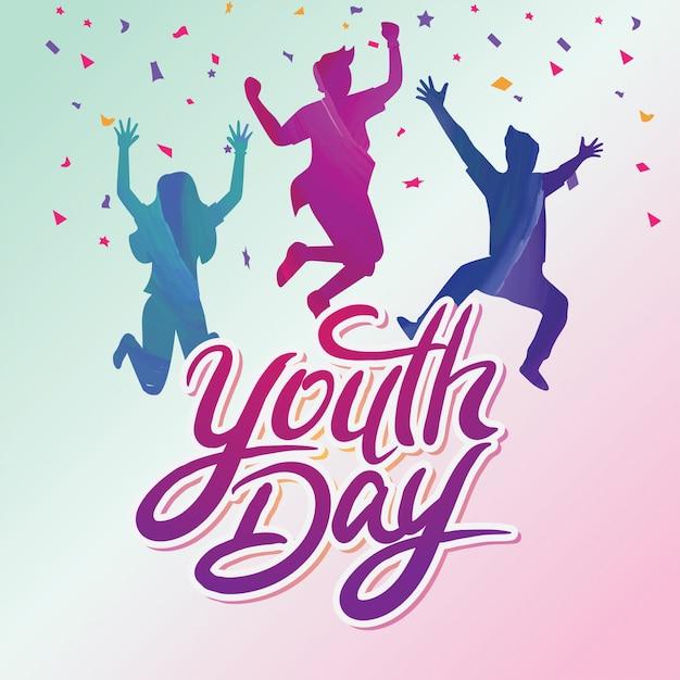 Jornada internacional da juventude Vetor Premium