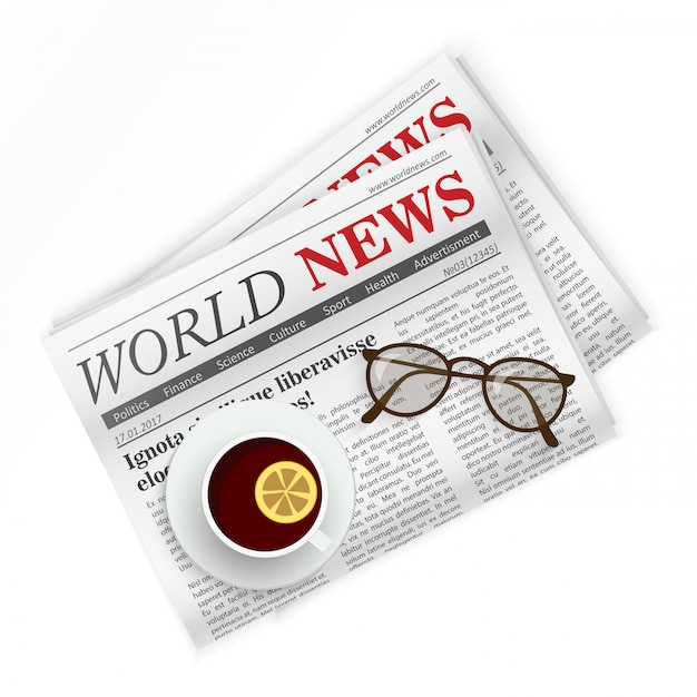 Jornal Vetor Premium