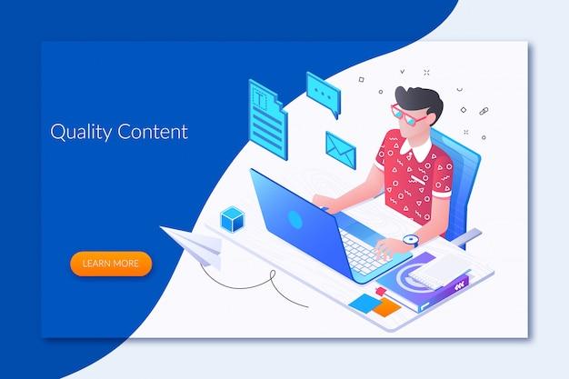Jornalista online Vetor Premium