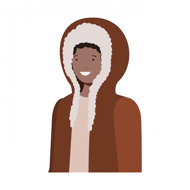 jovem com roupas de inverno avatar personagem Vetor Premium 93395f8cf304d