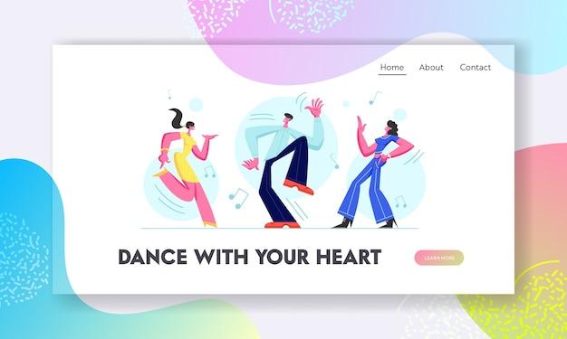 Jovens dançando na discoteca. Vetor Premium