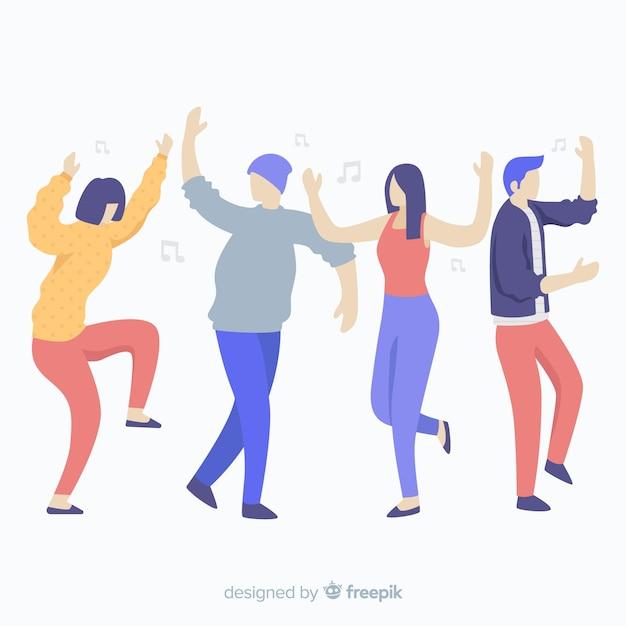 Jovens dançando Vetor grátis