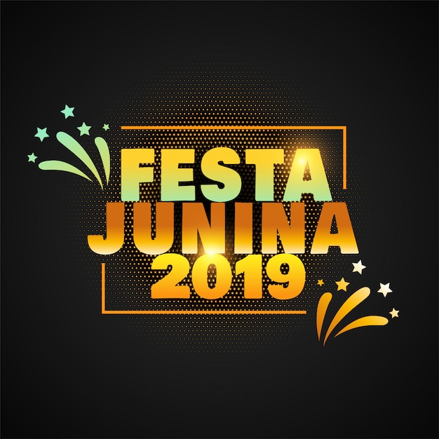 Junina de festa à moda 2019 Vetor grátis