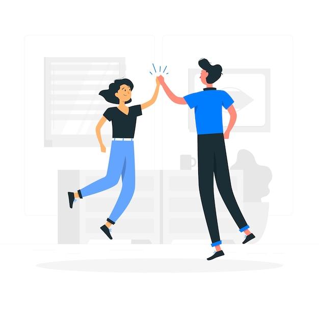 Juntos, ilustração do conceito Vetor grátis