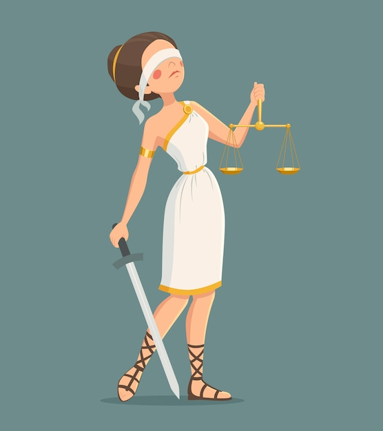 Justiça senhora ilustração Vetor grátis