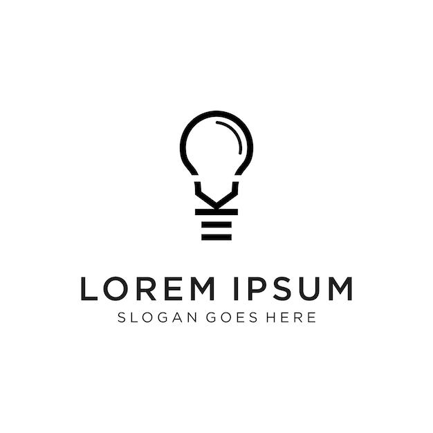 K logotipo inteligente Vetor Premium