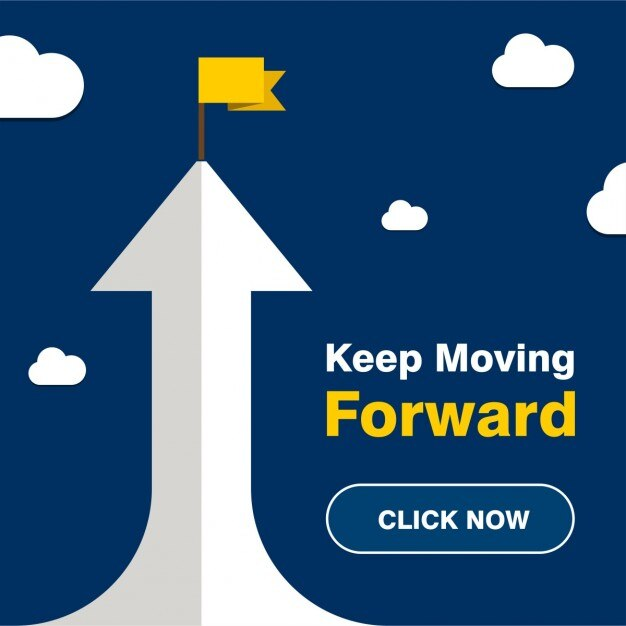 Keep moving crescimento anterior poster Vetor grátis