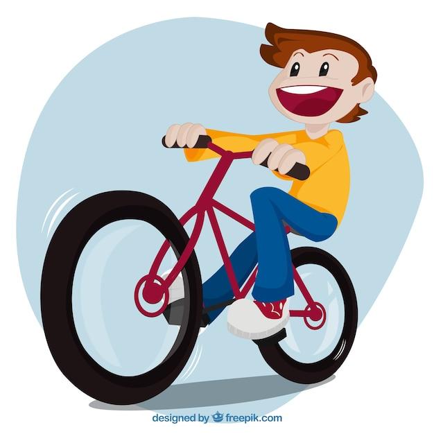 kid andar de bicicleta baixar vetores grátis