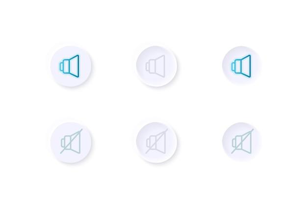 Kit de elementos de interface do usuário para ajuste de volume Vetor Premium