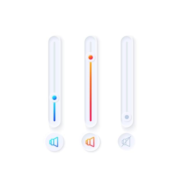Kit de elementos tuner ui Vetor Premium