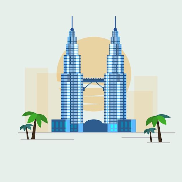 Kuala lumpur, malásia. Vetor Premium