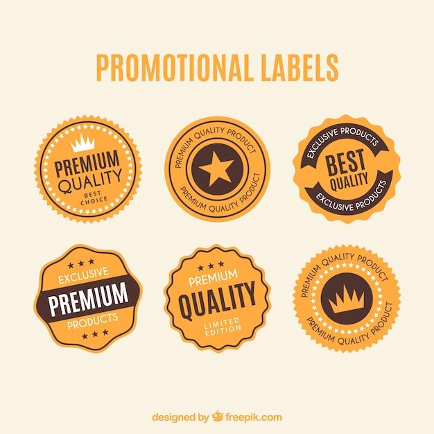 Labels sujos promocionais Vetor grátis
