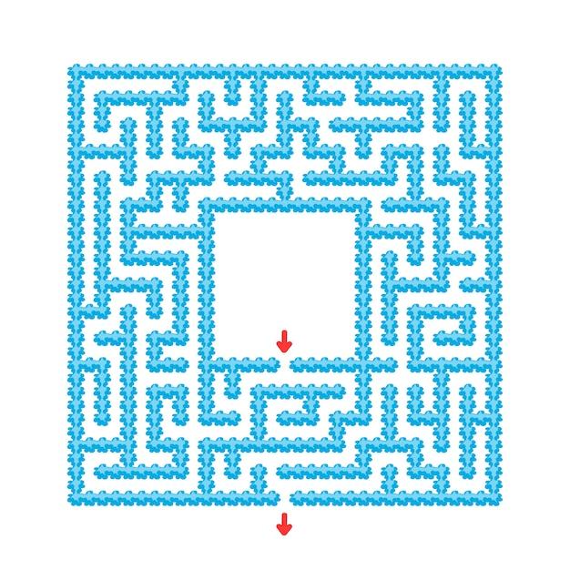 Labirinto abstrato. jogo para crianças. quebra-cabeça para crianças. estilo dos desenhos animados. enigma do labirinto. Vetor Premium