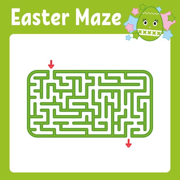 Labirinto. jogo para crianças. labirinto engraçado. página de atividade. quebra-cabeça para crianças. Vetor Premium