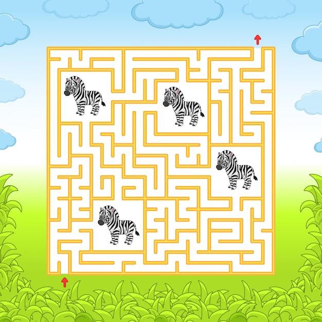 Labirinto. Vetor Premium