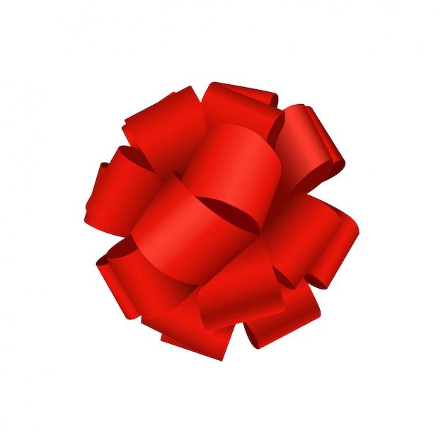 Laço vermelho Vetor Premium